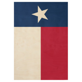 Texas state flag - high quality authentic color wood poster