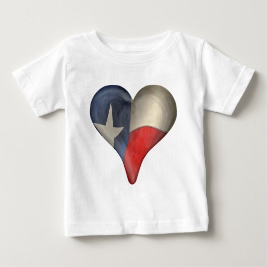 Texas State Flag In A Heart Baby T-Shirt