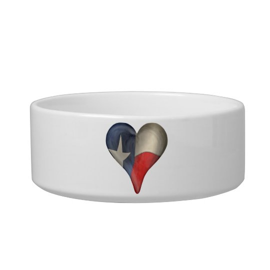 Texas State Flag In A Heart Bowl