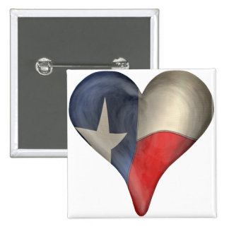 Texas State Flag In A Heart Button