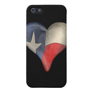 Texas State Flag In A Heart iPhone 5 Covers
