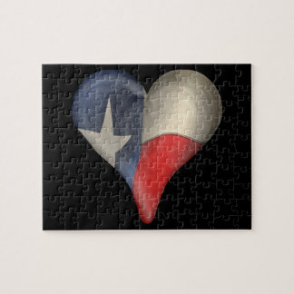 Texas State Flag In A Heart Jigsaw Puzzle