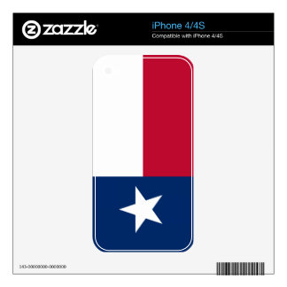 Texas State Flag iPhone 4S Decals
