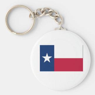 Texas State Flag Basic Round Button Keychain