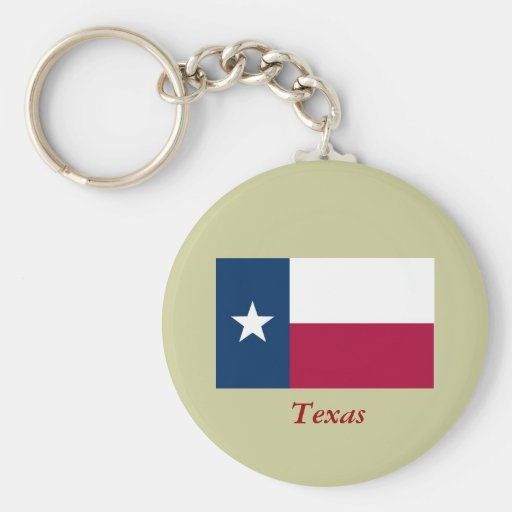 Texas State Flag Key Chain