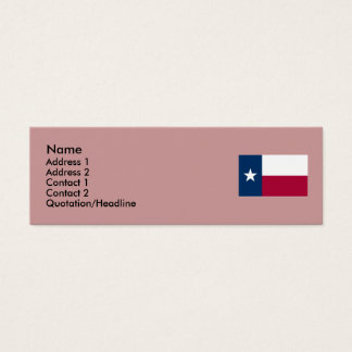Texas State Flag Mini Business Card