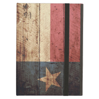 Texas State Flag on Old Wood Grain Case For iPad Air