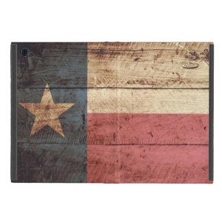 Texas State Flag on Old Wood Grain Case For iPad Mini