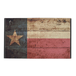 Texas State Flag on Old Wood Grain iPad Cover