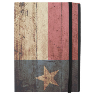 "Texas State Flag on Old Wood Grain iPad Pro 12.9"" Case"
