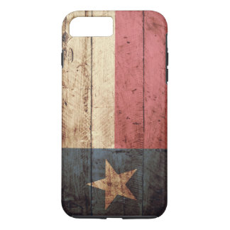 Texas State Flag on Old Wood Grain iPhone 7 Plus Case