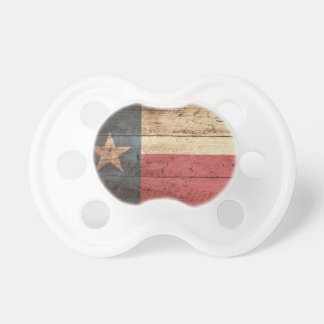 Texas State Flag on Old Wood Grain Pacifier