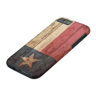 Texas State Flag on Old Wood Grain Tough iPhone 6 Case