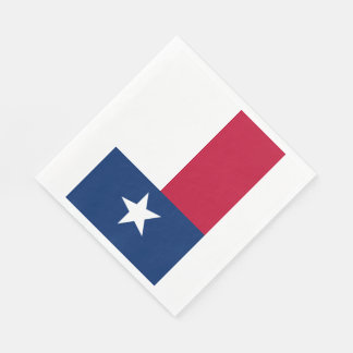 Texas State Flag Standard Luncheon Napkin