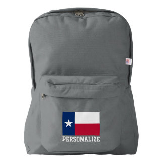 Texas state flag personalized american apparel™ backpack
