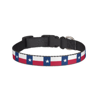 Texas State Flag Pet Collar