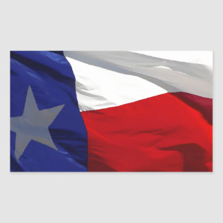 Texas State Flag Rectangular Sticker