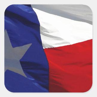 Texas State Flag Square Sticker