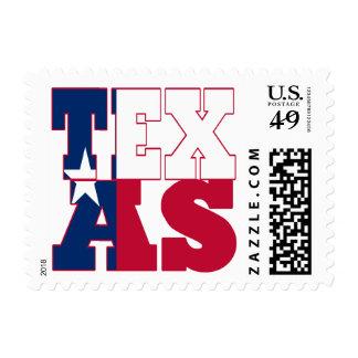 Texas  state flag text postage