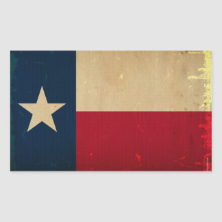 Texas State Flag VINTAGE Rectangular Sticker