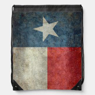 Texas state flag vintage retro draw string back drawstring backpack