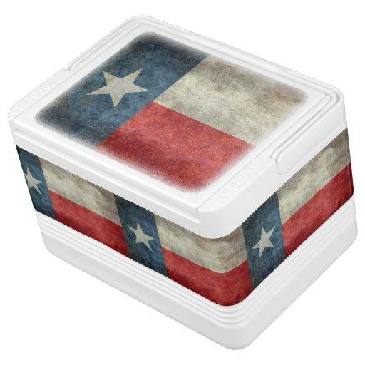 Texas state flag vintage retro igloo can cooler zazzle - Igloo vintage ...