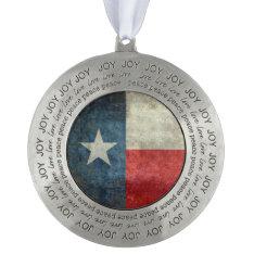 Texas State Flag Vintage Retro Pewter Ornaments at Zazzle
