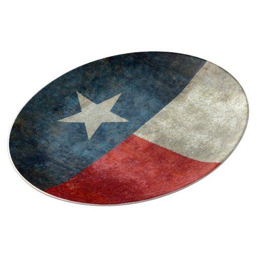 Texas state flag vintage retro Porcelain Plate : Zazzle