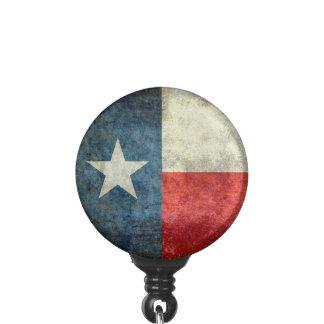 Texas state flag vintage retro style badge holder