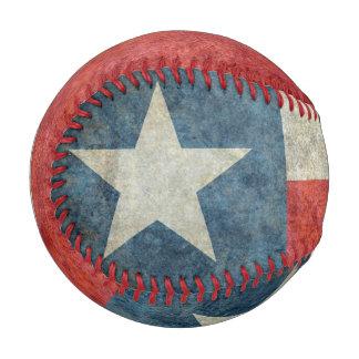 Texas state flag vintage retro style baseball
