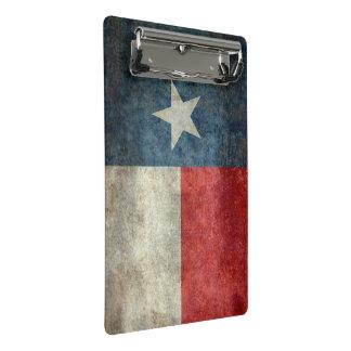 Texas state flag vintage retro style clip board