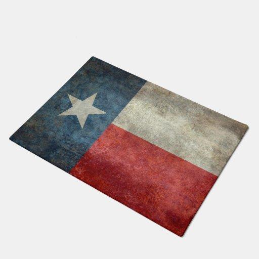 Texas State Flag Vintage Retro Style Door Mat Zazzle