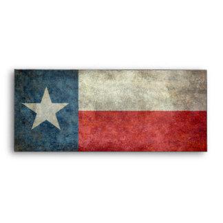 Texas state flag vintage retro style Envelopes