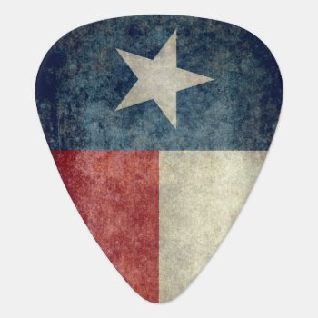 Texas State Flag Vintage Retro Style Guitar Picks by Lonestardesigns2020 at Zazzle