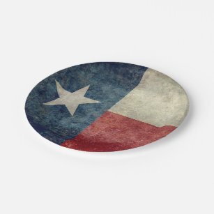 Texas state flag vintage retro style Paper Plates  sc 1 st  Zazzle & Vintage American Flag Plates | Zazzle
