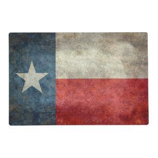 Texas state flag vintage retro style Placemat