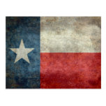 Texas state flag vintage retro style postcard
