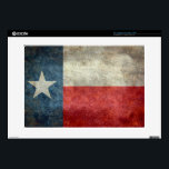 "Texas state flag vintage retro style skins for laptops<br><div class=""desc"">Texas State flag with a Vintage Retro style or Grungy texture. The Texas flag is known as the &quot;Lone Star Flag&quot; (giving rise to the state&#39;s nickname &quot;The Lone Star State&quot;). This flag was introduced to the Congress of the Republic of Texas on December 28, 1838, by Senator William H....</div>"