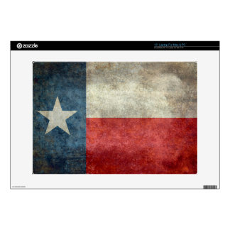 Texas state flag vintage retro style skins for laptops