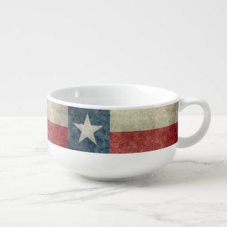 Texas state flag vintage retro style Soup Mug