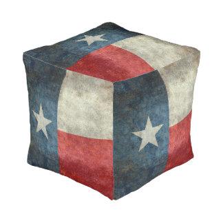 Texas state flag vintage retro style Square Pouf