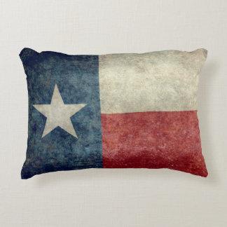Texas state flag vintage retro style throw pillow