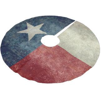 Texas state flag vintage retro style Tree Skirt