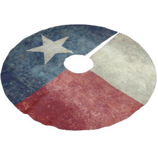 Texas state flag vintage retro style Tree Skirt