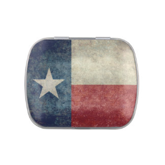Texas state flag, Vintage retro style version Jelly Belly Candy Tins