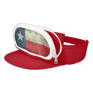 Texas state flag vintage retro style visor