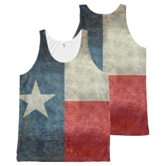 Texas state flag vintage retro tank top All-Over print tank top