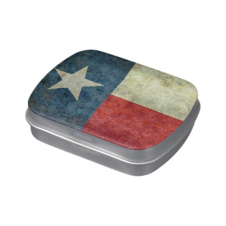 Texas state flag, Vintage retro version Jelly Belly Candy Tins