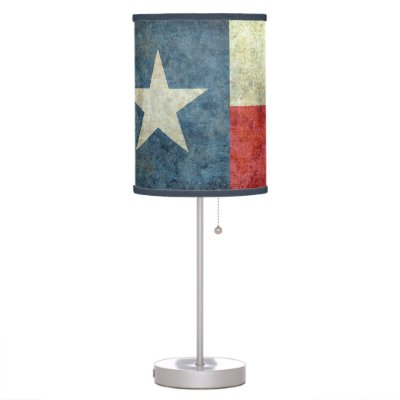 Texas Flag   Red, White, Blue Table Lamp
