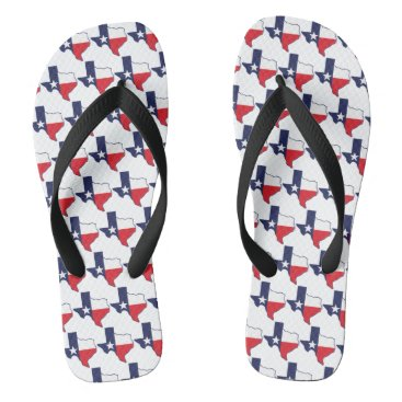Beach Themed Texas State Flip Flops